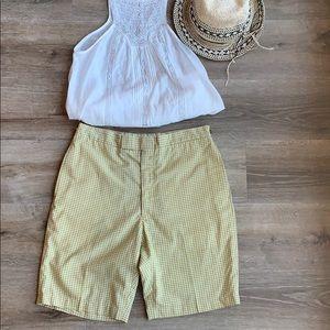 Vintage gingham hi rise Bermuda shorts
